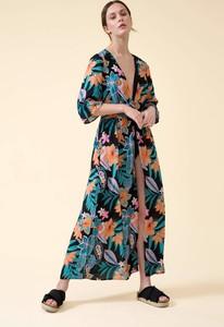Sukienka ORSAY z tkaniny z dekoltem w kształcie litery v maxi