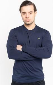 Niebieska koszulka z długim rękawem Lacoste z długim rękawem