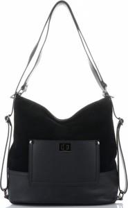 a65d4e90ae470 torebki czarne skórzane - stylowo i modnie z Allani