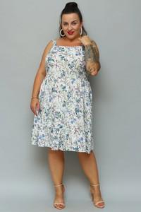 Sukienka KARKO midi na ramiączkach