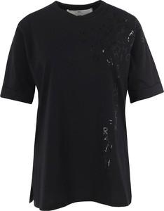 Czarna bluzka Elisabetta Franchi z krótkim rękawem