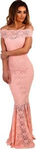 Elegrina wieczorowa sukienka z korkonką calynda różówa
