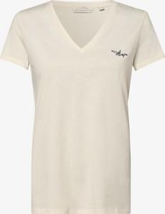 Bluzka Tom Tailor Denim z krótkim rękawem z dekoltem w kształcie litery v