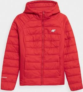 Czerwona kurtka 4F z kapturem w stylu casual