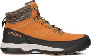 Żółte buty trekkingowe Umbro sznurowane