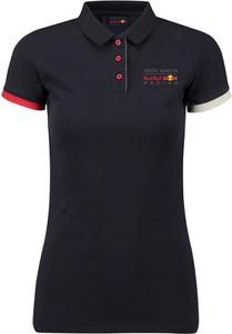 Granatowy t-shirt Red Bull Racing z krótkim rękawem z bawełny