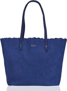 Niebieska torebka Milton w stylu casual duża