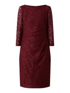 Czerwona sukienka Christian Berg Cocktail mini z długim rękawem prosta