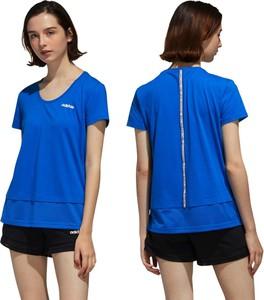T-shirt Adidas w sportowym stylu z okrągłym dekoltem z krótkim rękawem