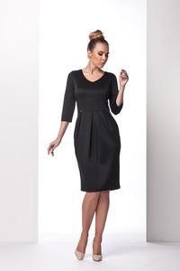 c85d98e21c czarna sukienka z długim rękawem - stylowo i modnie z Allani