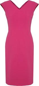 Różowa sukienka Moda Su bez rękawów