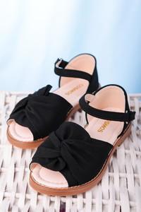 Czarne buty dziecięce letnie Casu
