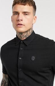 Czarna koszula Religion z dżerseju