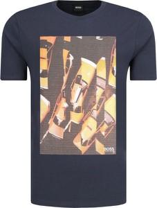 T-shirt BOSS Casual z krótkim rękawem z nadrukiem