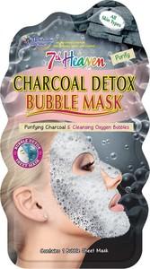 7th Heaven, Charcoal Detox Bubble Mask, detoksykująca węglowa maseczka bąbelkowa w płachcie do każdego typu skóry