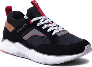 Czarne buty sportowe Kangaroos ze skóry ekologicznej