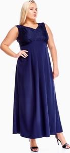 Sukienka Fokus z dekoltem w kształcie litery v dla puszystych bez rękawów