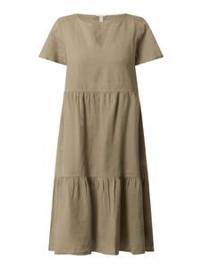 Sukienka Esprit z lnu w stylu casual z dekoltem w kształcie litery v