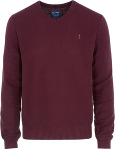 Czerwony sweter Ochnik z bawełny w stylu casual