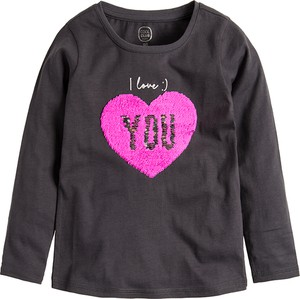 Granatowa bluzka dziecięca Cool Club z długim rękawem z bawełny
