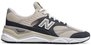 Buty sportowe New Balance ze skóry sznurowane w młodzieżowym stylu