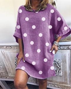 Sukienka Kendallme z okrągłym dekoltem w stylu casual mini