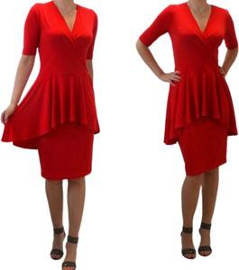 Sukienka Acme mini wyszczuplająca z krótkim rękawem