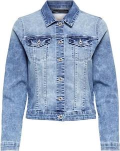 Niebieska kurtka Only w stylu casual krótka
