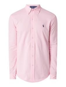 Różowa koszula POLO RALPH LAUREN z długim rękawem z bawełny
