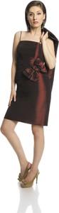 Brązowa sukienka Fokus gorsetowa