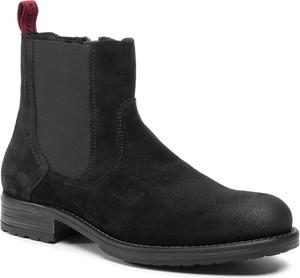 Czarne buty zimowe Marc O'Polo