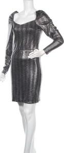 Sukienka Pieces z długim rękawem dopasowana mini