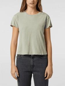 Zielony t-shirt Review z bawełny