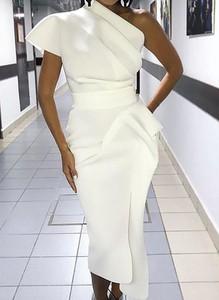 Sukienka Cikelly asymetryczna midi z bawełny