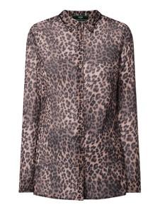 Brązowa bluzka Guess w stylu casual z dekoltem w kształcie litery v
