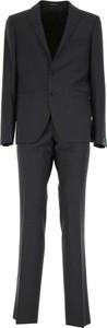 Czarny garnitur Tagliatore z wełny