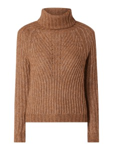 Brązowy sweter Only w stylu casual z wełny