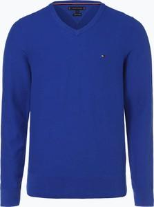 Niebieski sweter Tommy Hilfiger z dzianiny