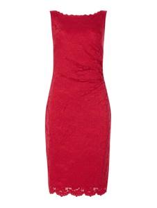 Czerwona sukienka Vera Mont w stylu casual z okrągłym dekoltem bez rękawów