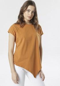 Pomarańczowa bluzka born2be w stylu casual