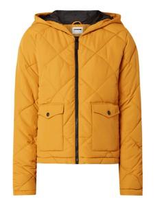 Żółta kurtka Noisy May krótka w stylu casual