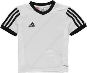 Koszulka dziecięca Adidas ze skóry z krótkim rękawem w paseczki
