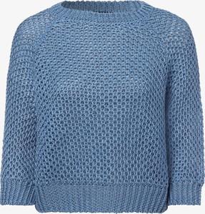 Niebieski sweter MaxMara z lnu