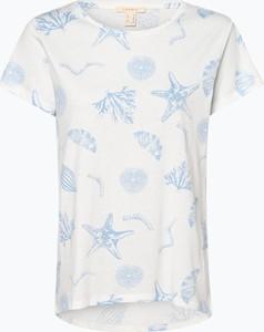 T-shirt Esprit z okrągłym dekoltem z krótkim rękawem z bawełny