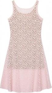 Różowa sukienka Justyna Chrabelska mini