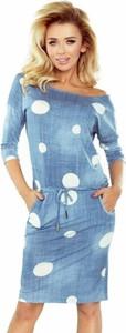 Niebieska sukienka NUMOCO w stylu casual