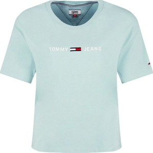 Miętowy t-shirt Tommy Jeans