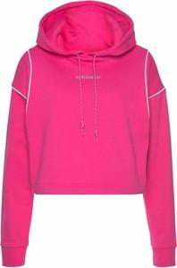 Różowa bluza Adidas Originals w stylu casual krótka