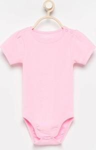 Różowe body niemowlęce Reserved z bawełny