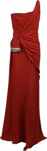 Sukienka Valentino maxi z dekoltem w kształcie litery v